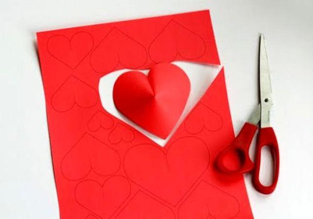 Origami Küçük Kalpler Origami Kağıt Kalp
